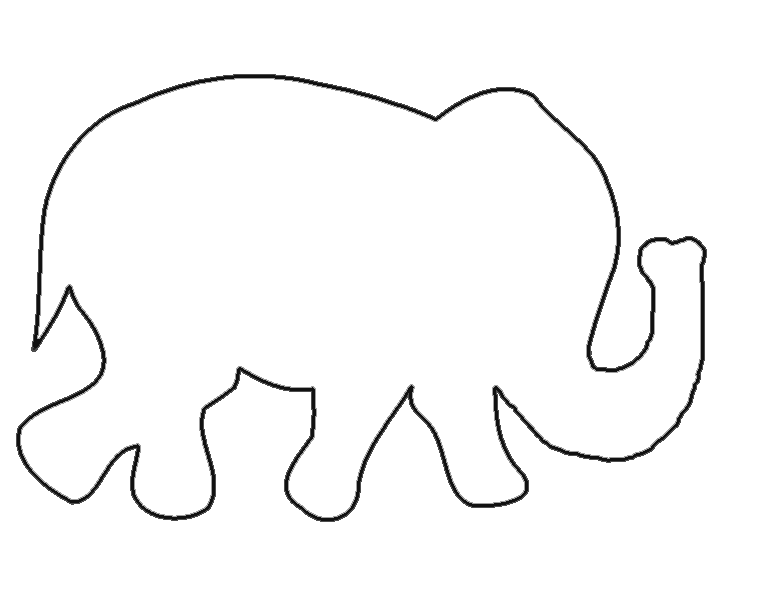 elephant template for preschool - elephant cut out templates search results calendar 2015