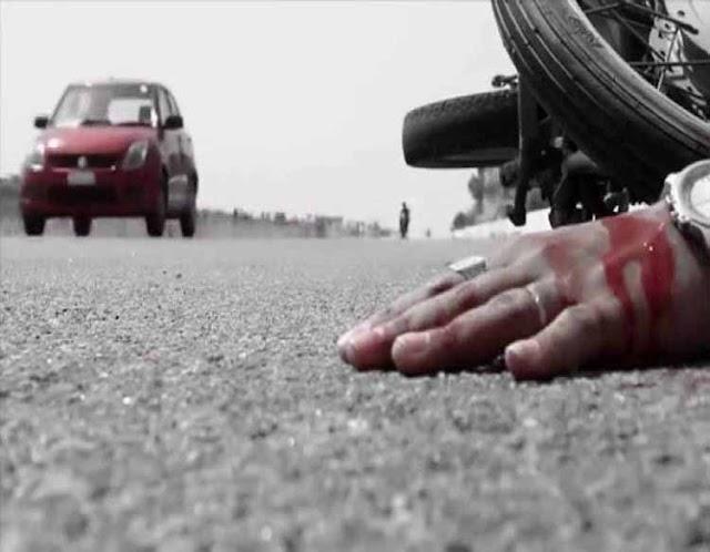 ट्रक ने बाइक सवार को उड़ाया, मौत | SHIVPURI NEWS