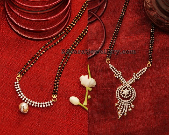 cef8e91c2fa26 Black Beads Sets by Manubhai Jewellers - Jewellery Designs