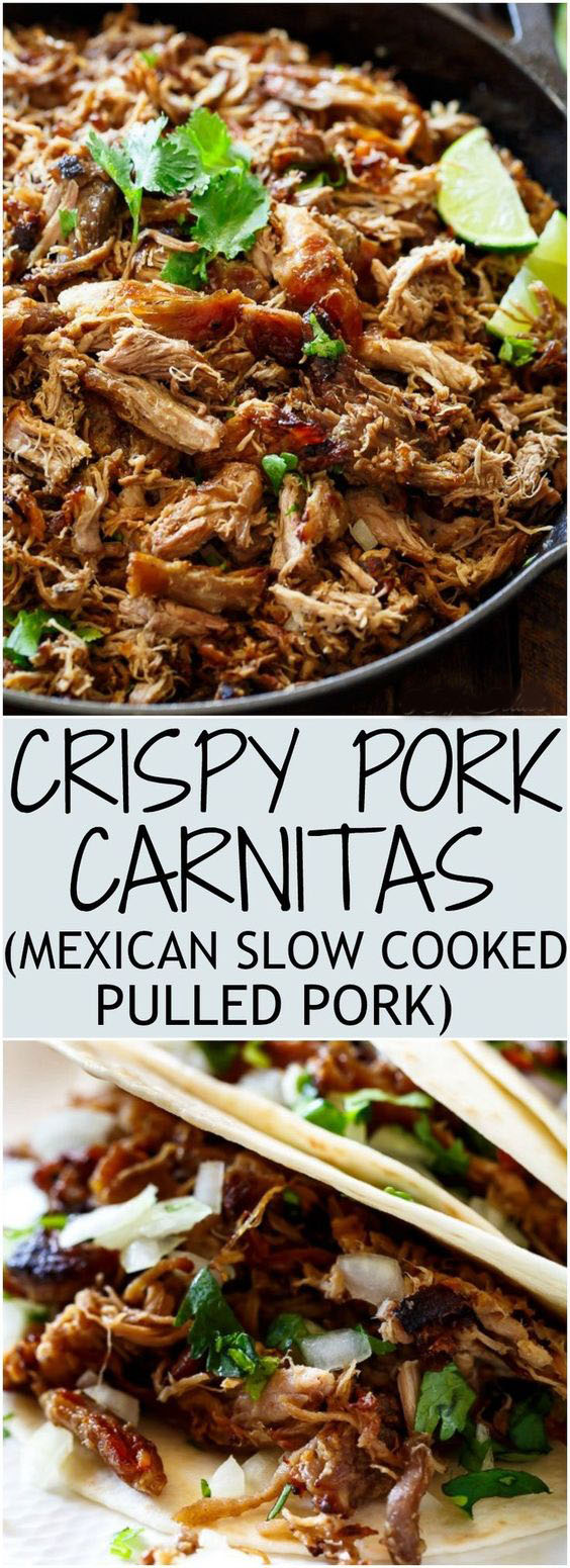 Crispy Pork Carnitas (Mexican Slow Coked Pulled Pork)