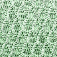 Eyelet Lace 78: Overlapping Waves | Knitting Stitch Patterns.