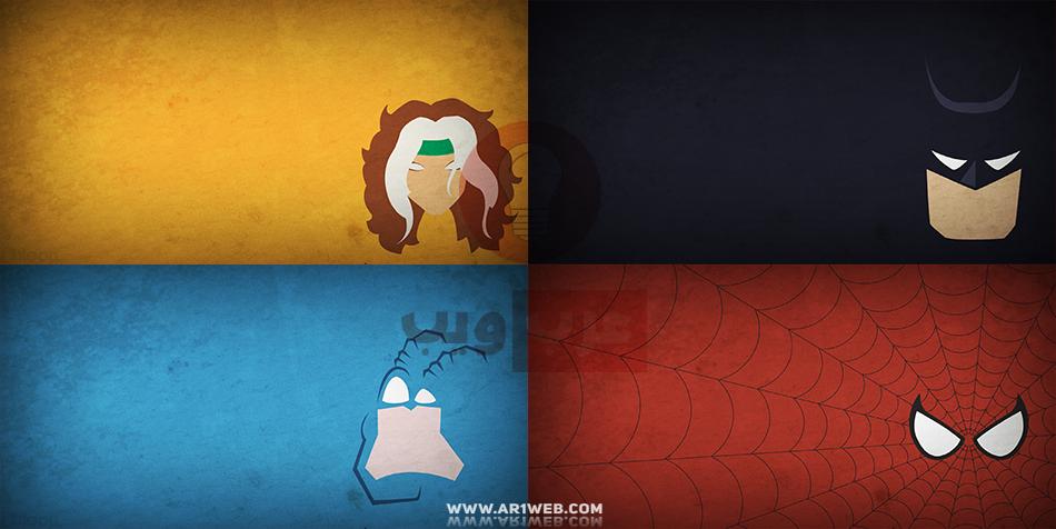 حزمة خلفيات لشخصيات أبطال