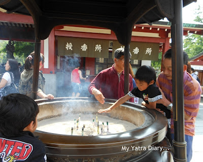 Smoke health bowl at the Sensoji Temple, Tokyo