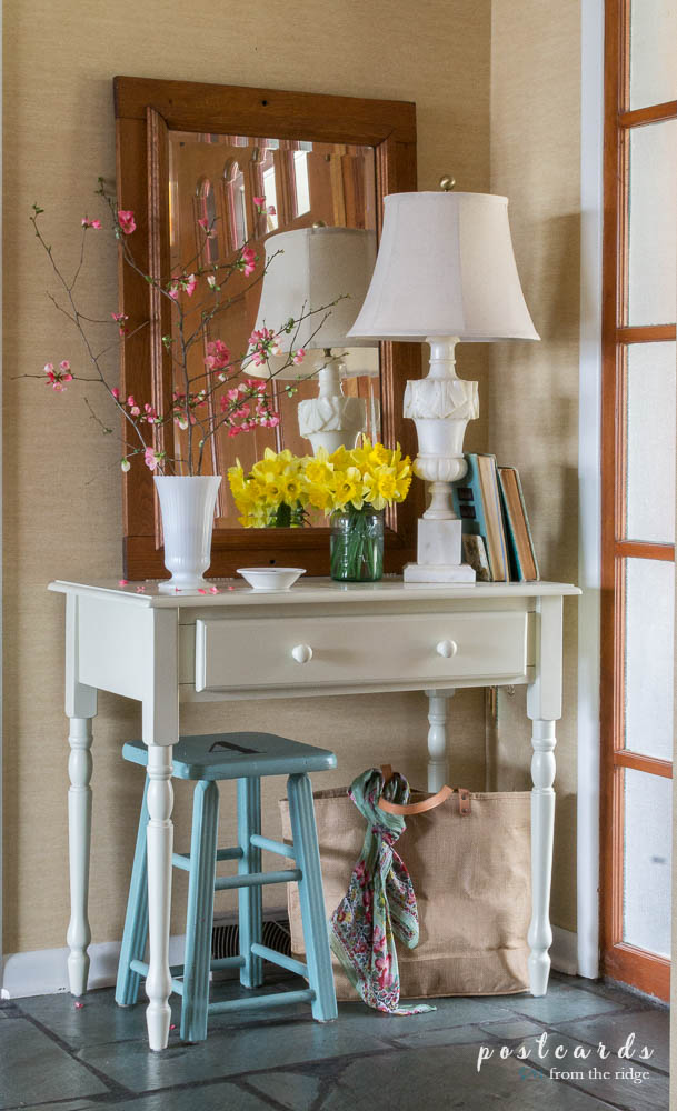spring makeover in entry