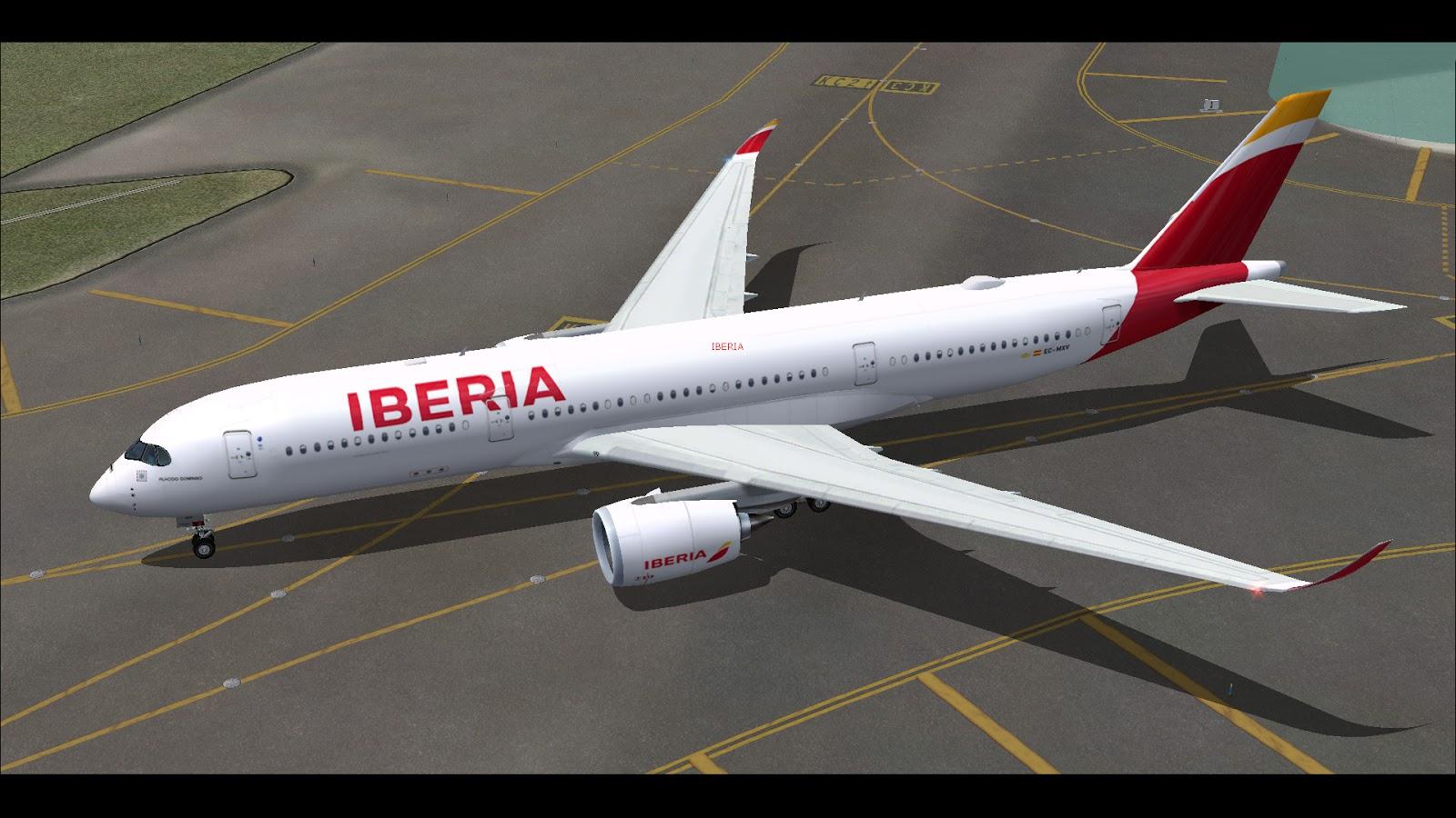 FSRepainter: TRAFFIC AI FSPXAI A350-900 Iberia EC-MXV