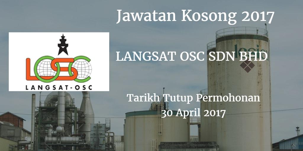 Jawatan Kosong LANGSAT OSC SDN BHD 30 April 2017