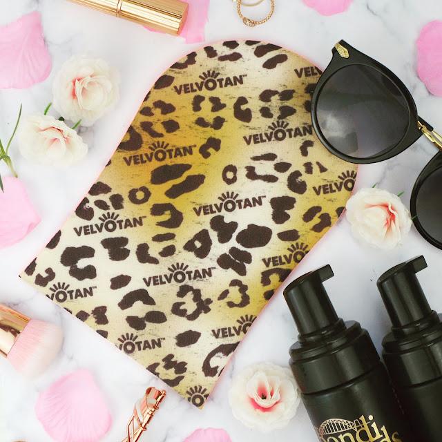 New for 2017 Velvotan Original Leopard Print Tanning Mitt
