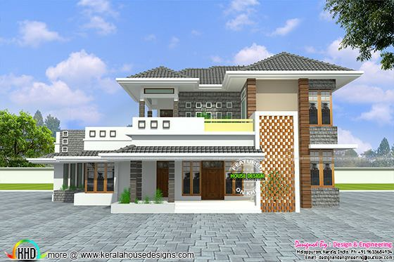 January 2016 kerala home design and floor plans for Design of home front side