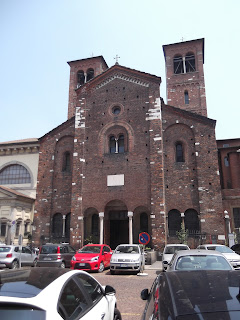 Mussolini held a rally in 1919 in the square in front of the church