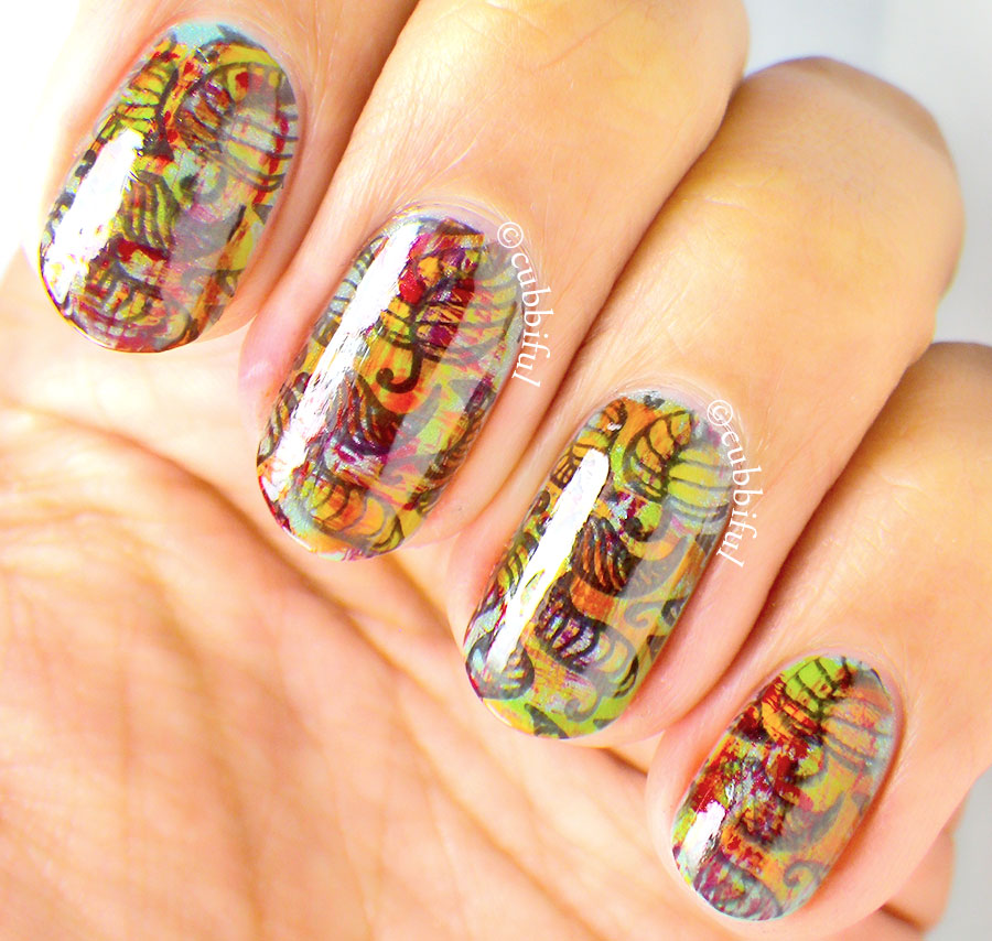 Thatleanne Firey Autumn Leaves Nail Art: Cubbiful: Autumn Leaves Nail Art