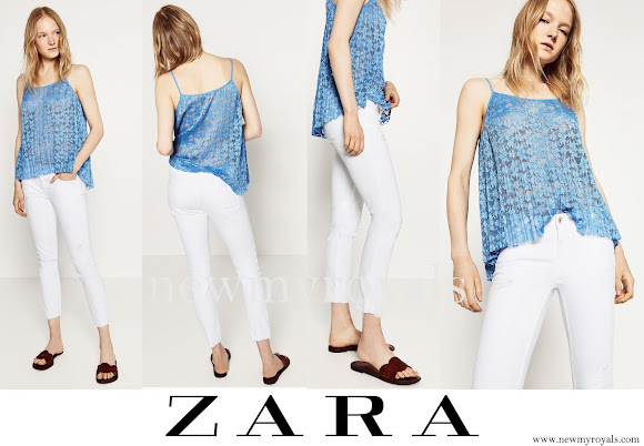 Princess Madeleine wore ZARA Mid Rise Jeans