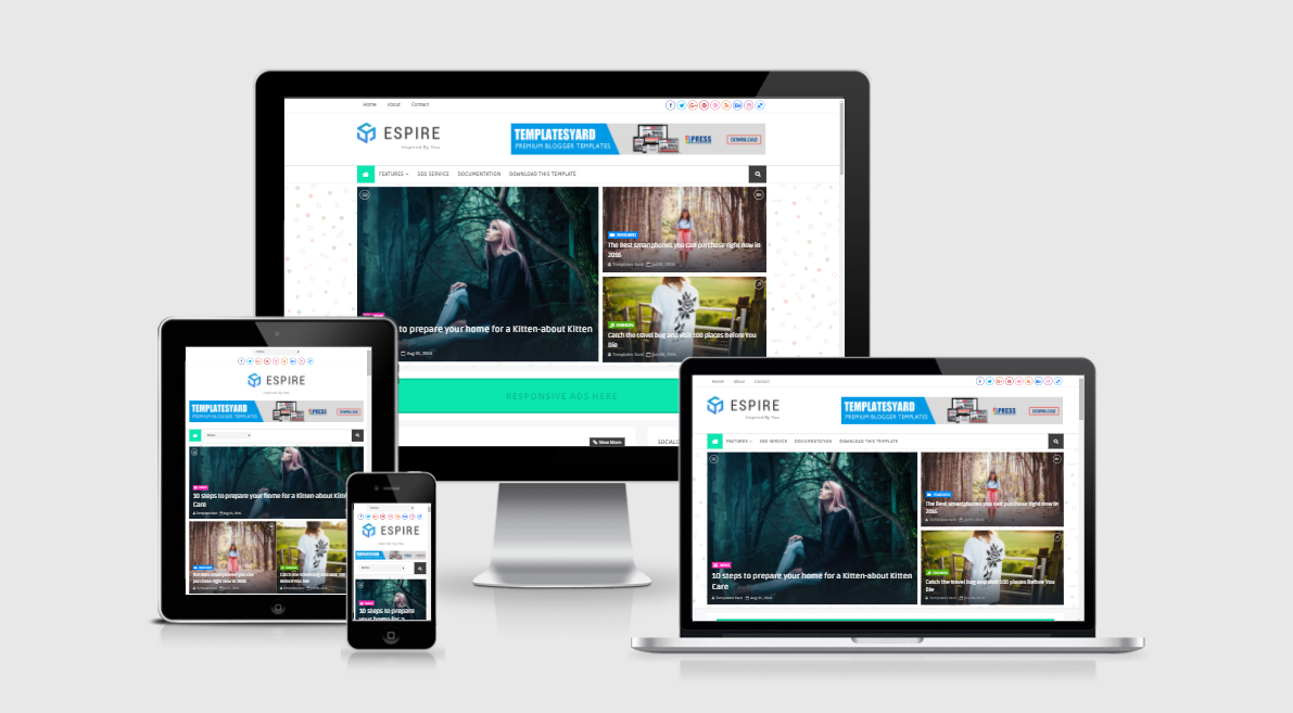 Espire Stylish - Responsive Clean Blogger Template