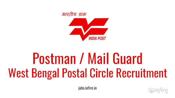 West Bengal Postal Circle Recruitment 2016 Apply Online - Postman, Mail Guard