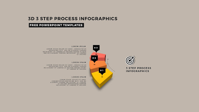Multi Step 3D Circular Process Diagram Infographic Free PowerPoint Template Slide 2