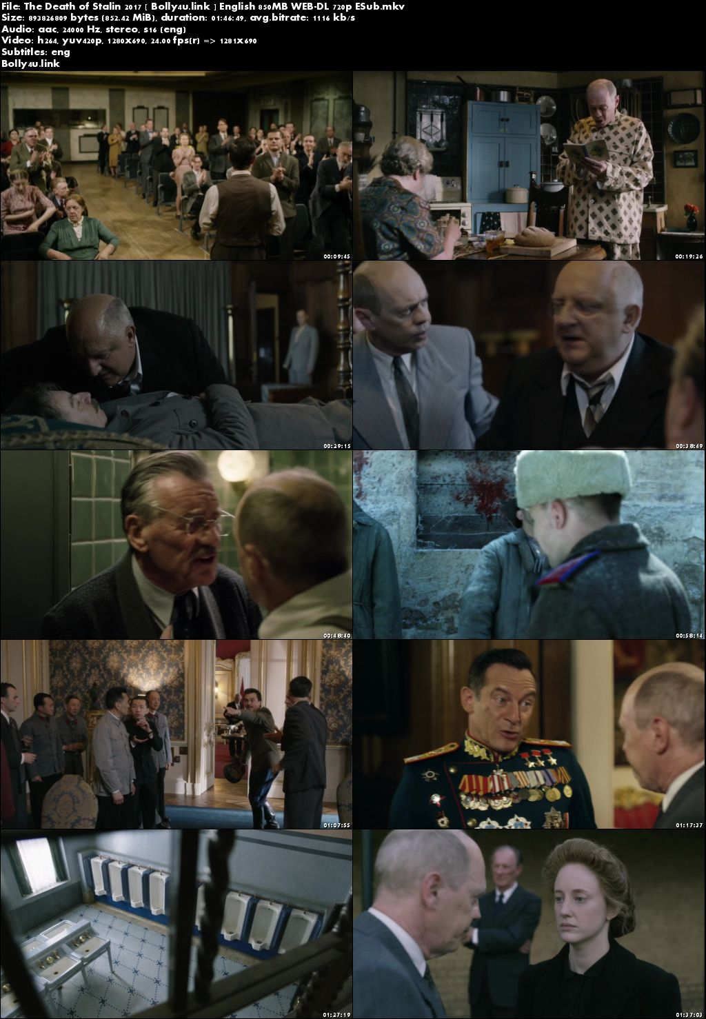 The Death of Stalin 2017 WEB-DL 850MB English 720p ESub Download