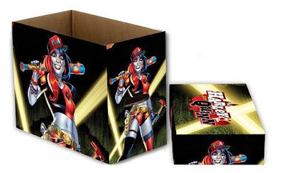DC SHORT COMIC BOOK BOX HARLEY QUINN LGT