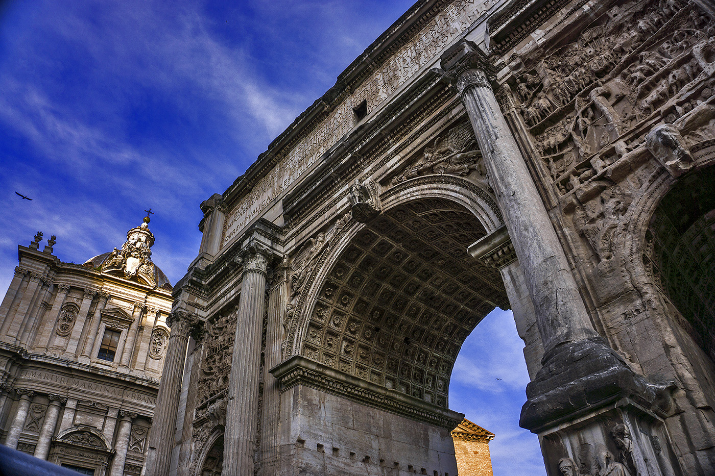 Arch of Septimus Severus at the Forum in Rome, Italy