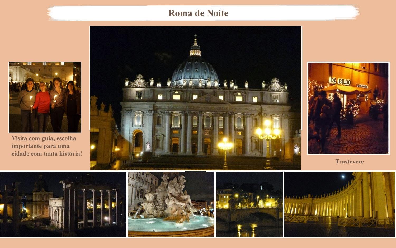 Guia de Turismo - Roma de noite, as luzes de Roma