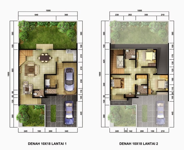 35 Denah Terbaik Rumah Minimalis Sederhana 2 Lantai Rumahku Unik