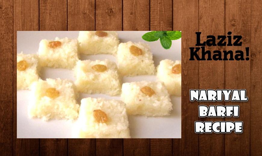 Nariyal Barfi Recipe in Roman English - Nariyal Barfi Banane ka Tarika