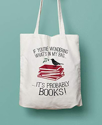 Book Lovers Canvas Shopper Tote Bag
