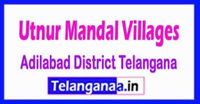 Utnur Mandal and Villages in Adilabad District Telangana