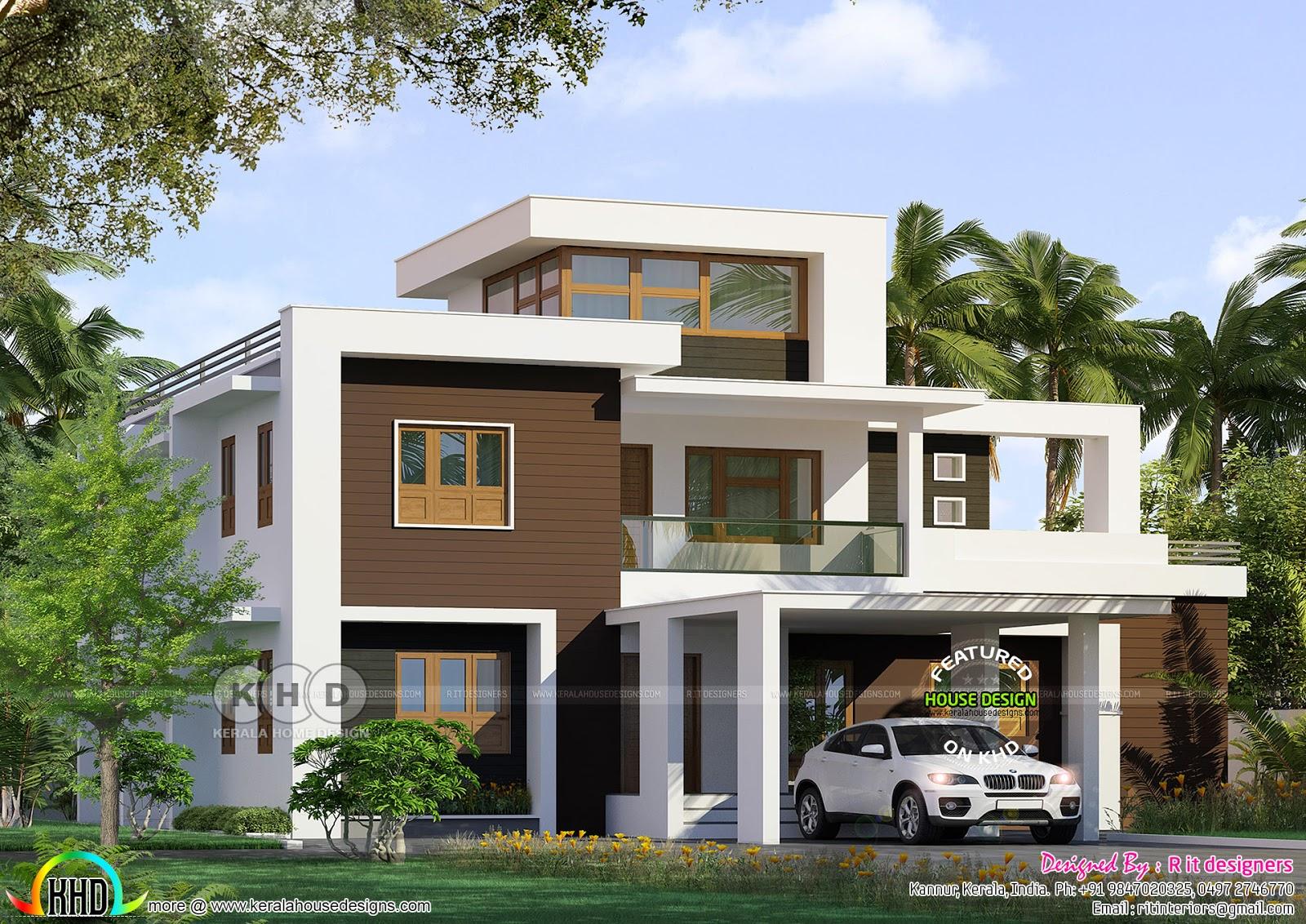 2587 Square Feet Modern Box Model House Kerala Home