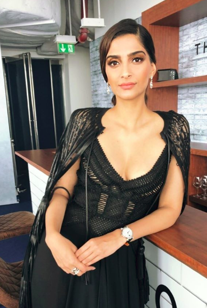 Sonam Kapoor Slays In A Hot Black Gown At An Event