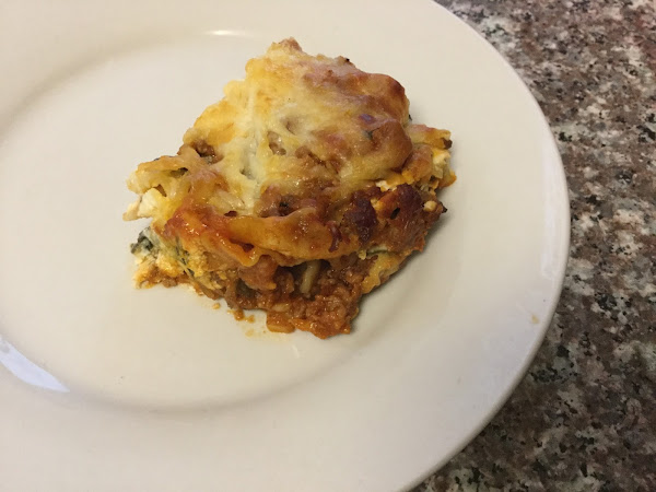 A cold rainy day deserves a blog post (Cream Cheese Lasagna)
