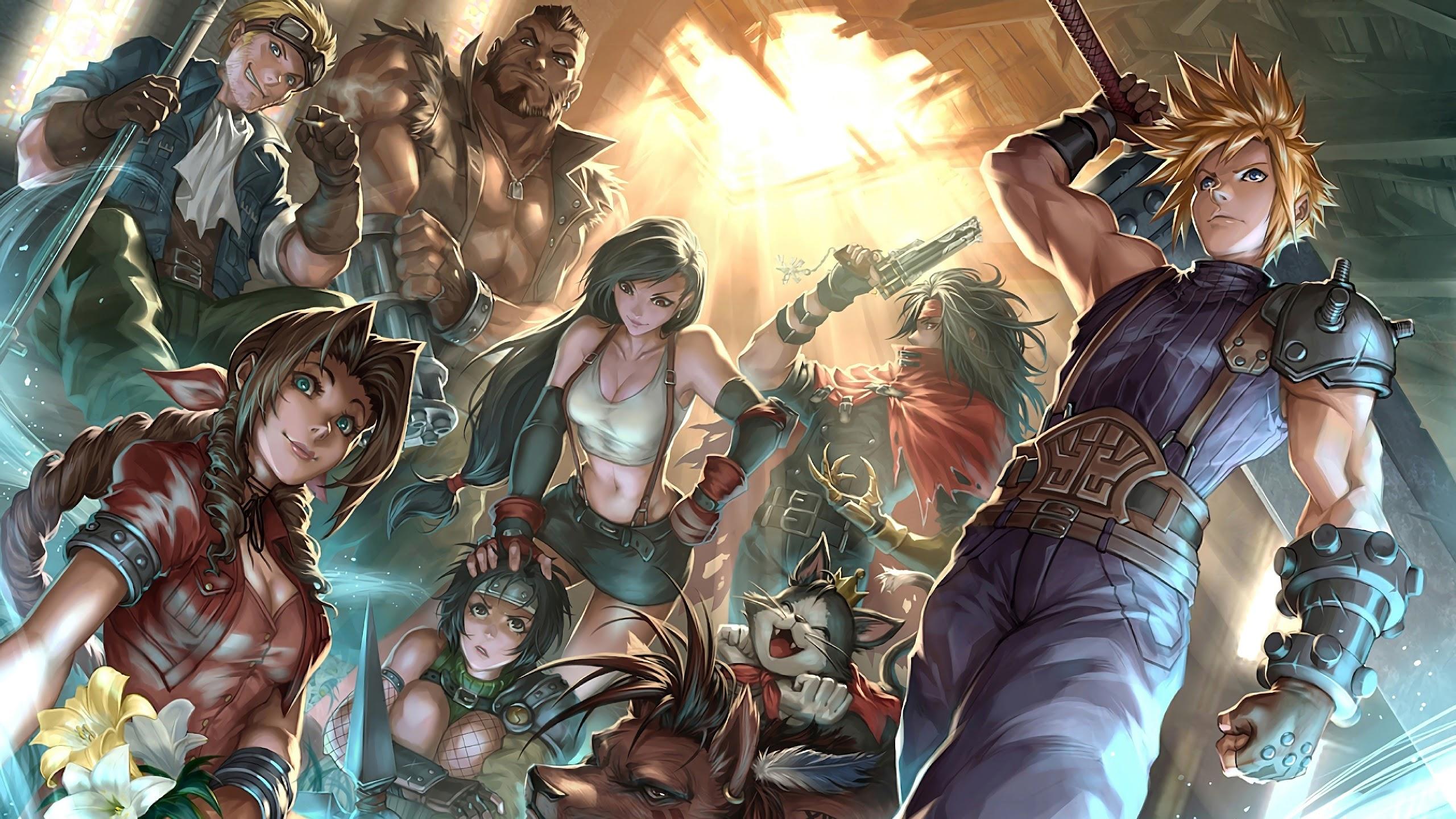 final fantasy 7 remake characters uhdpaper.com 4K 40