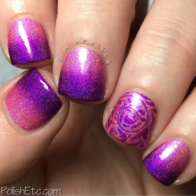 Gradient nails for the #31DC2016Weekly using Cupcake Polish - McPolish