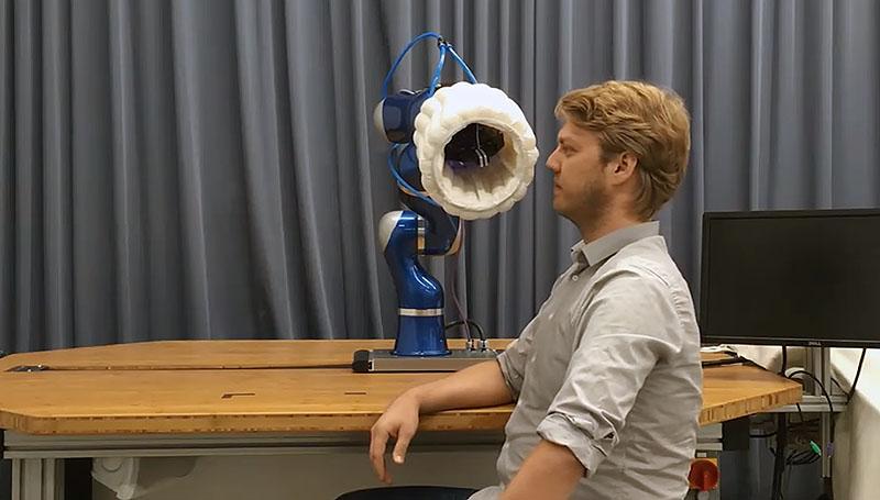 EE-Airbag. Воздушная подушка для робота-манипулятора.