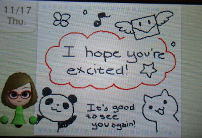 Swapdoodle Nikki Nintendo 3DS hope you're excited it's good to see you again