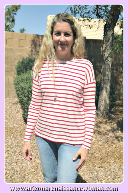Jolie Striped Shirt - Golden Tote Review - March 2016