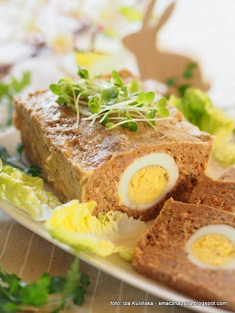 klops miesny, pieczen z miesa mielonego, wielkanocne sniadanie, przepisy na wielkanoc, mieso mielone