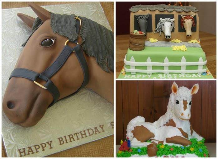 Happy Birthday Leah Horse Cake