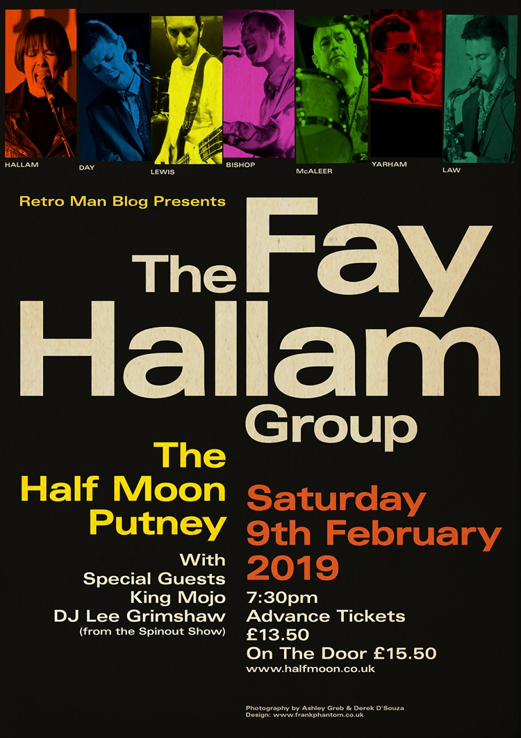 The Fay Hallam Group headline our next Retro Man Blog Night Sat Feb 9th 2019