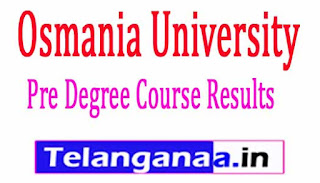 Osmania University Pre Degree Course Results 2017