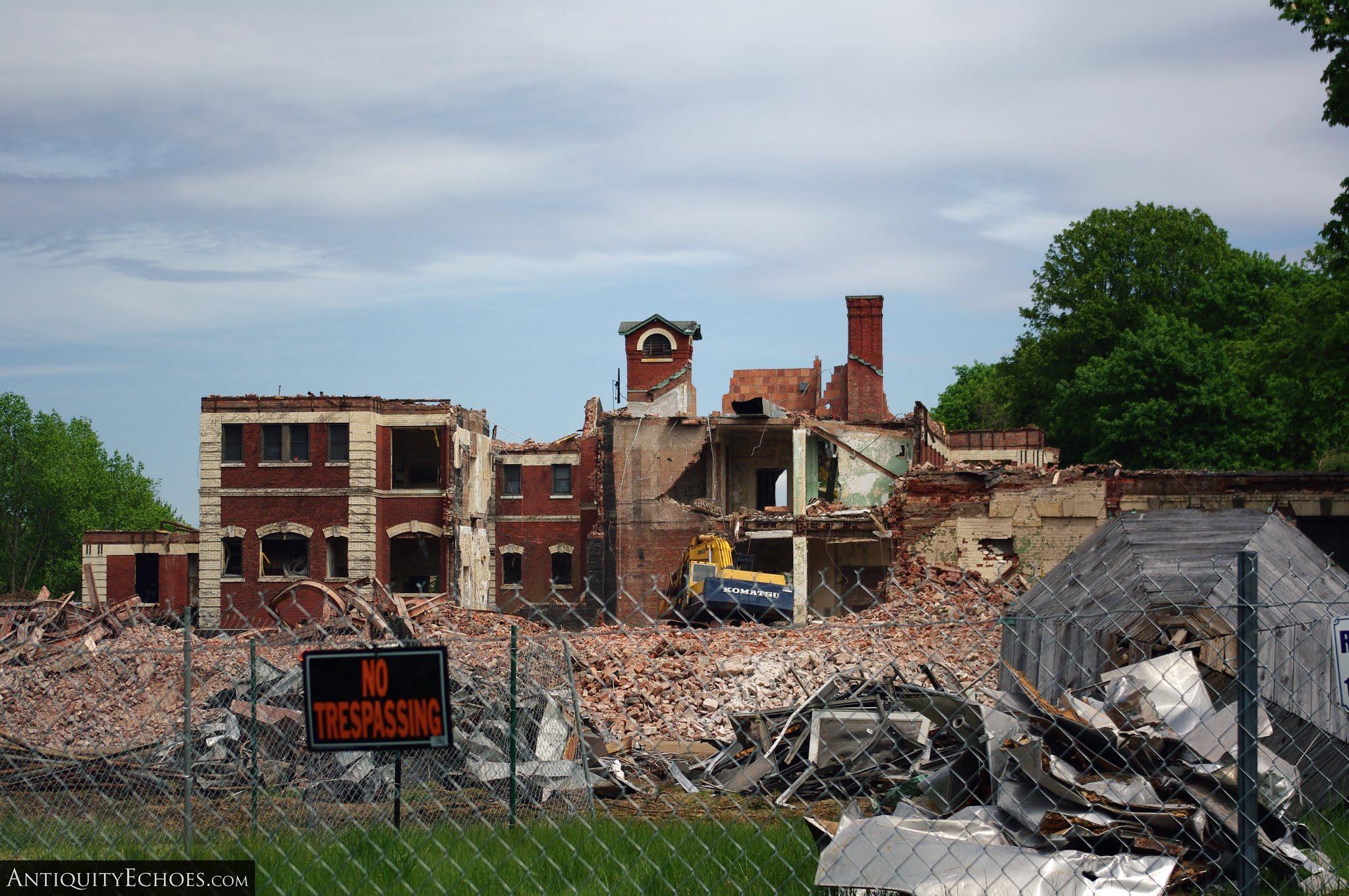 Overbrook Asylum - Building Five Torn Apart