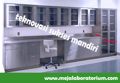 Meja Laboratorium wall bench bahan Stainless Steel