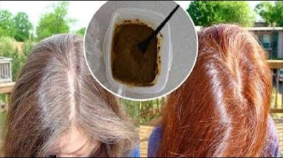 Tinte natural para cubrir las canas. y darle brillo al cabello.
