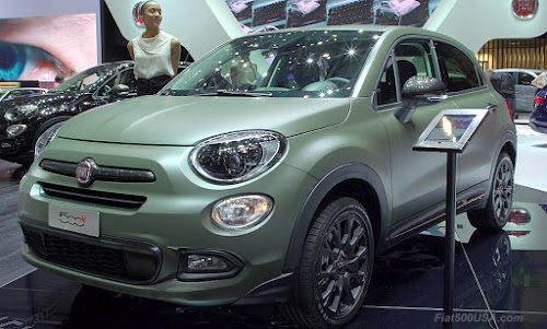 Fiat 500X S-Design in Alpi Green