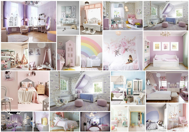 Girls Bedroom Decors In Pastel Soft Colors
