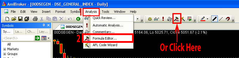 How to write afl code for amibroker - Amibroker AFL: Step by