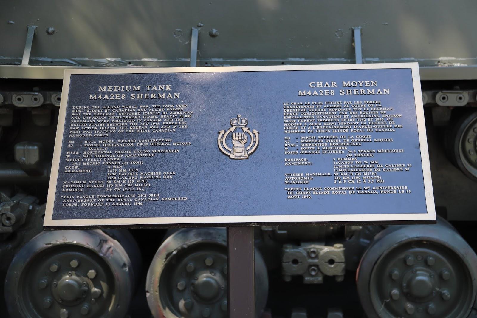Memorials in Ottawa: Sherman Tank, Beechwood Cemetery