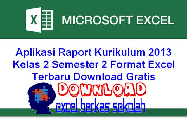 Aplikasi Raport Kurikulum 2013 Kelas 2 Semester 2 Format Excel Terbaru Download Gratis