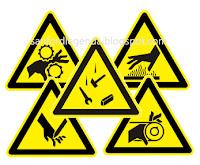 Simbol peringatan pada mesin