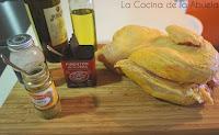Pollo asado con toque de curry.
