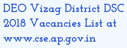 DEO VIZAG AP DSC 2018 Vacancies List at sites.google.com/site/deovizag