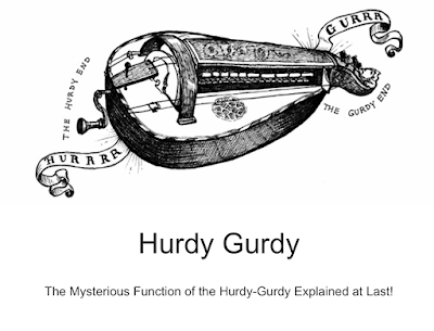 "T-shirt: ""The Mysterious Function of the Hurdy-Gurdy Explained at Last with Diagrams and Illustrations 